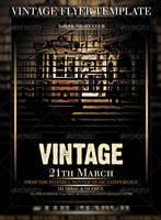 vintage flyer by ysfkrk
