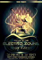 electro sound flyer template by ysfkrk