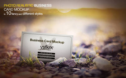 Photo Realistic Business Card Mockup by ysfkrk