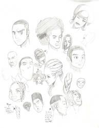 Black People in Cartoon, Anime, and manga 2 by Jetseta