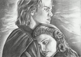 Anakin and Padme by TessJa