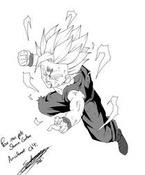 Gohan ssj2 - Present for my friend by ChibiDamZ