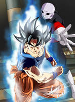Goku ultra instinct and Jiren V2 by ChibiDamZ