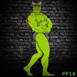 Flexing Ogre  by FabFelipe