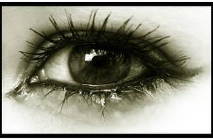 My crying eye by MaggieBebbe