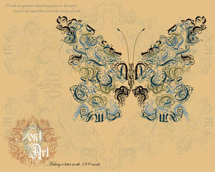 Font Art - Butterfly by PezBot