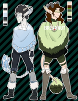Poncho Demon Adoptables - AUCTION - SET 1 - Closed by TheBreadnut