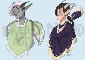 Poncho Demon Adoptables - AUCTION - SET 2 - CLOSED by TheBreadnut