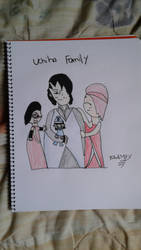 Uchiha Family: Sarada, Sasuke, Sake and Sakura :3 by JulieBnHaLover247