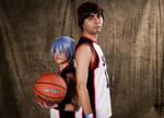 Kuroko no Basket - Tetsuya Kuroko and Taiga Kagami by iBzrra