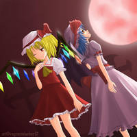 Touhou - Scarlet Devils by vagrantslasher17