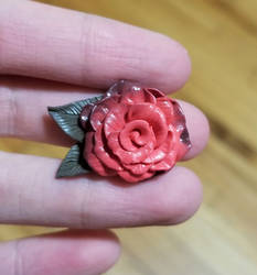 Polymer Clay Rose by thetragicdream