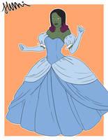 Gamora Cinderella cosplay by Sumireii
