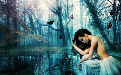 Butterfly pond by gjrc-art