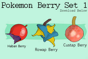[MMD DOWNLOAD] Pokemon Berry Set 1 by Rooboid
