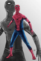 Civil War Spider-Man by Feakry