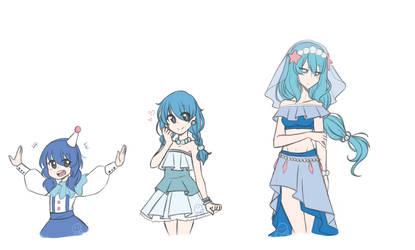 [PKMN] Popplio Evolution Line by Sapphire-M