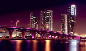 Miami Skyline Left by Spankcdd