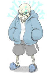 Sans from Undertale Sketch by Zeknox