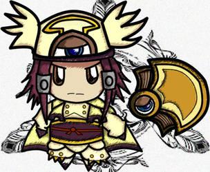 Blazblue X yugioh : Izayoi Aki by LoveCartoonGame