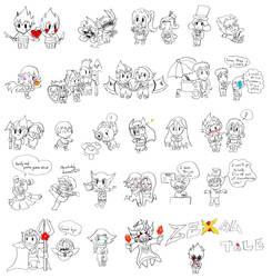 Undertale X Zexal = Zexaltale : Most of characters by LoveCartoonGame