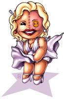 Restitched Marilyn Monroe by melvindevoor