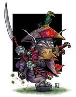 Sohei goblin monk by melvindevoor