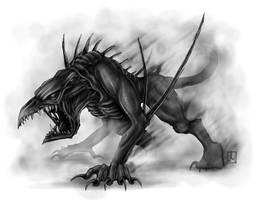 Hound of Kindalos by melvindevoor