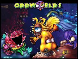 Oddworlds coverart by melvindevoor