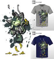 Cute Monster tshirt entry by Melvin de Voor by melvindevoor
