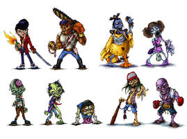 Zombiecharacters by melvindevoor