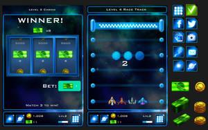 Sketch Galaxy minigames UI by melvindevoor