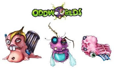 Oddworlds garbage-creatures by melvindevoor