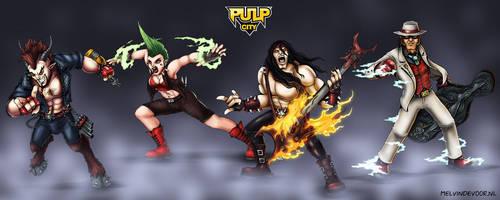 Pulp City Superhero Rock Band by melvindevoor