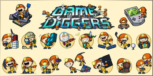 Game Diggers mascot(s) by melvindevoor