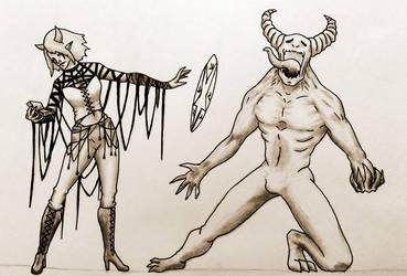 Mystel, the occultist by Nymerii by F3RYX