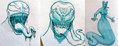 Monster sketches by F3RYX