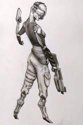 Cyborg Cop-C4 by F3RYX