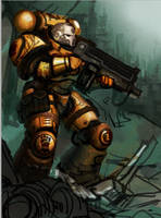 Imperial fists sternguard WIP by kimplate