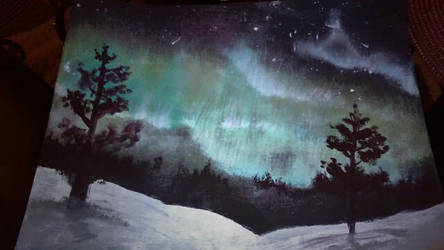 Northern lights by Freshwaterpaints