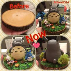 Totoro figurine by Brownie314