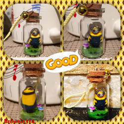 Minion Bottle Charm by Brownie314