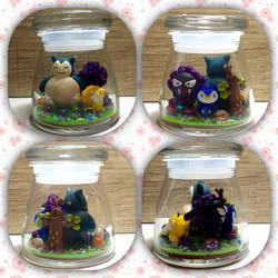 Pokemon Polymer clay Jar by Brownie314