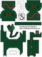 Transformer OC Sibilance papercraft - template by shadree