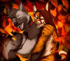 Autumn love by AngiewolfArt