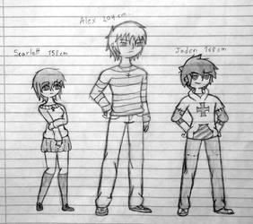 Quick Sketch: Scarlett, Alex and Jaden by Galm03