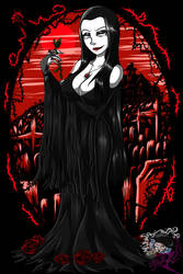 Gothtober 2018: Morticia Addams by DarkMirrorEmo23