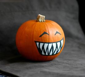 teething pumpkin by disenchanted