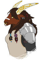 Tauren Profile Again by Sunkaro
