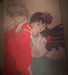 Inuyasha and Kagome by AngelGabryel